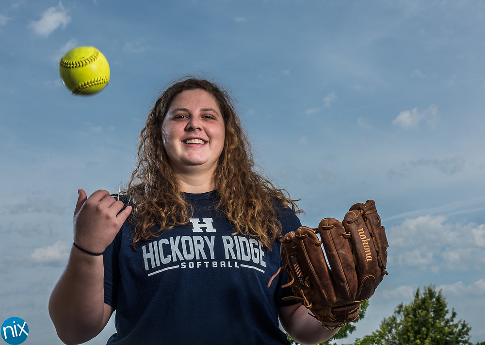 Hickory Ridge softball player Lindsey Powell.