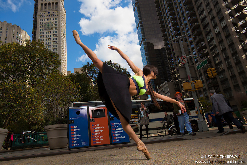 En Pointe Ballerina Madison Square Park New York City Dance As Art Photography with Sabrina Imamura