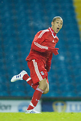 LEEDS, ENGLAND - Tuesday, December 2, 2008: Liverpool's Thomas Ince celebrates scoring the opening goal against Leeds United during the FA Youth Cup 3rd Round at Elland Road. (Photo by David Rawcliffe/Propaganda)