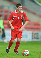 WREXHAM, WALES - Saturday, October 10, 2009: Wales' Aaron Morris during the UEFA Under-21 Championship Qualifying Round Group 3 match against Bosnia-Herzegovina at the Racecourse Ground. (Pic by Chris Brunskill/Propaganda)