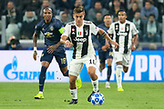 Juventus Forward Paulo Dybala during the Champions League Group H match between Juventus FC and Manchester United at the Allianz Stadium, Turin, Italy on 7 November 2018.