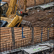 Foundation for new building.<br />