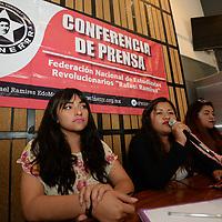 Toluca, México.- (Abril 27, 2017).- Integrantes de la dirigencia estatal de la Federación Nacional de Estudiantes Revolucionarios Rafael Ramírez  (FNERRR )  anunciaron que el 28 de abril se llevara a cabo la final de la etapa estatal de la Espartaqueada de Matemáticas  por quinto año consecutivo, y se llevará a cao en el municipio de La Paz. Agencia MVT / Crisanta Espinosa.