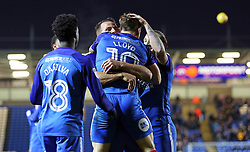 Danny Lloyd of Peterborough United celebrates scoring his second goal of the game with team-mates - Mandatory by-line: Joe Dent/JMP - 23/12/2017 - FOOTBALL - ABAX Stadium - Peterborough, England - Peterborough United v Bury - Sky Bet League One