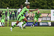 Forest Green Rovers Keanu Marsh-Brown (7) celebrates his goal, 1-0 during the Vanarama National League match between Forest Green Rovers and Bromley FC at the New Lawn, Forest Green, United Kingdom on 17 September 2016. Photo by Shane Healey.
