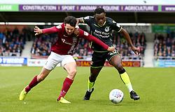 Marc Bola of Bristol Rovers takes on Brendan Moloney of Northampton Town - Mandatory by-line: Robbie Stephenson/JMP - 07/10/2017 - FOOTBALL - Sixfields Stadium - Northampton, England - Northampton Town v Bristol Rovers - Sky Bet League One