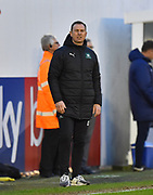 Plymouth Argyle manager Derek Adams in the technical area during the EFL Sky Bet League 1 match between Plymouth Argyle and Accrington Stanley at Home Park, Plymouth, England on 22 December 2018.