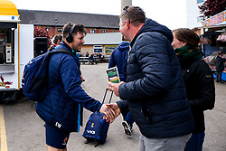 Ethan Waller of Worcester Warriors arrives at Northampton Saints - Mandatory by-line: Robbie Stephenson/JMP - 04/05/2019 - RUGBY - Franklin's Gardens - Northampton, England - Northampton Saints v Worcester Warriors - Gallagher Premiership Rugby