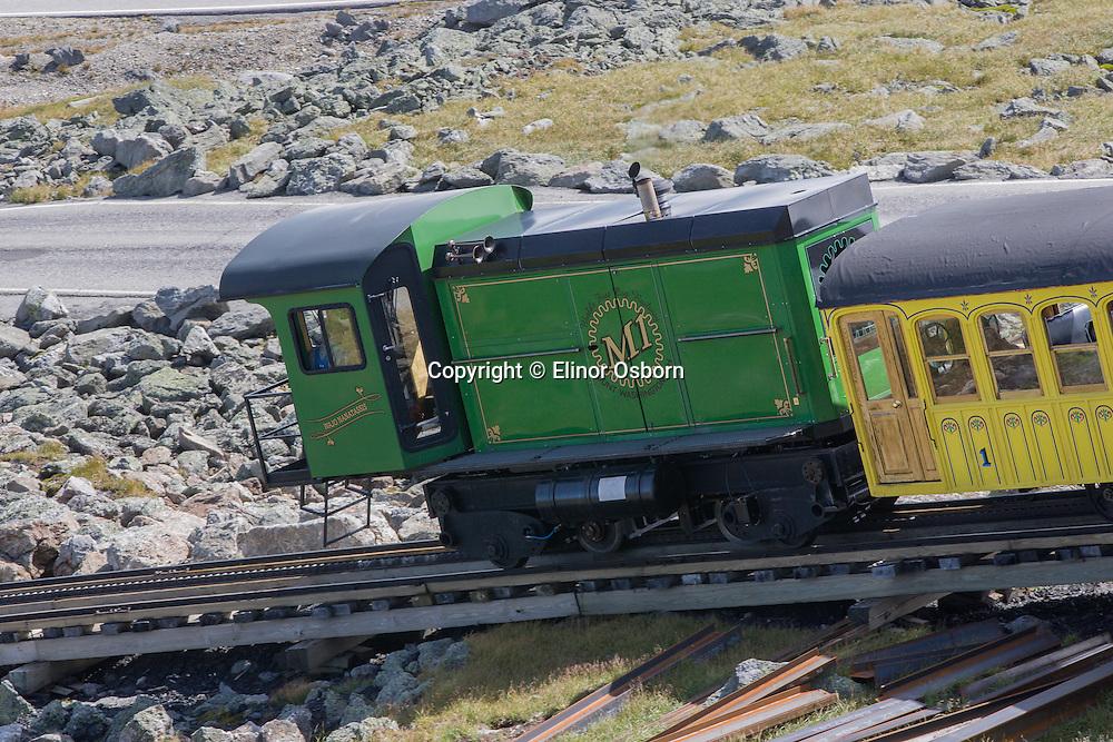 Mt Washington Cog Railway 1869, Second steepest mountain climbing train in the world, biodiesel engine