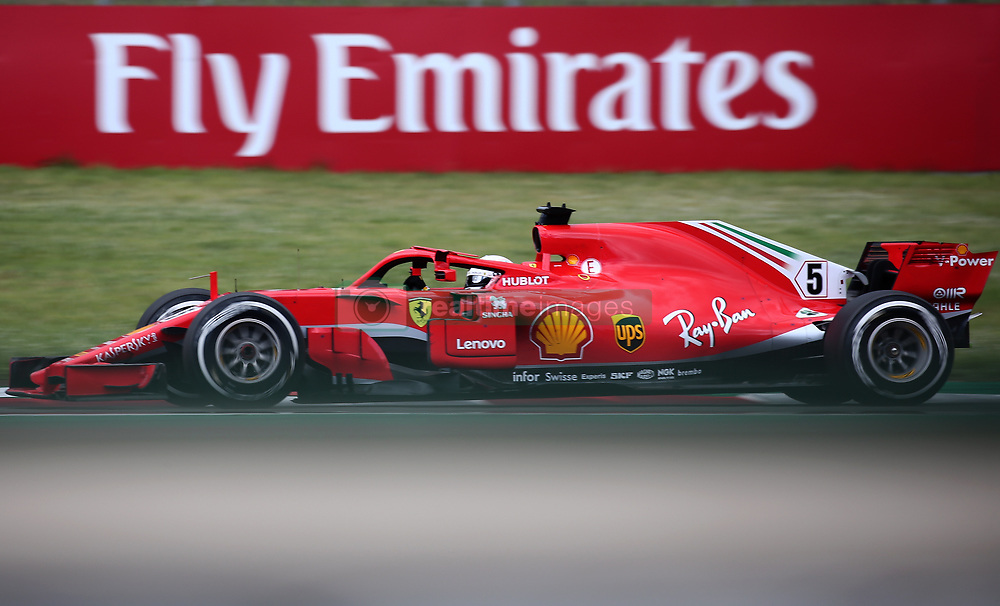 May 13, 2018 - Barcelona, Spain - Sebastian Vettel, team Ferrari, during the GP Spain F1, on 13th May 2018 in Barcelona, Spain. (Credit Image: © Joan Valls/NurPhoto via ZUMA Press)