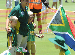 Pretoria 26-12-18. The 1st of three 5 day cricket Tests, South Africa vs Pakistan at SuperSport Park, Centurion. Day 1. Boys pose for a photo on the pitch during lunchtime.<br /> Picture: Karen Sandison/African News Agency(ANA)