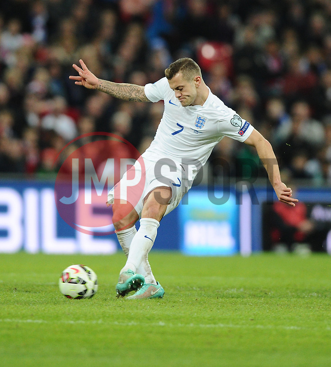 Jack Wilshere of England (Arsenal)  - Photo mandatory by-line: Joe Meredith/JMP - Mobile: 07966 386802 - 15/11/2014 - SPORT - Football - London - Wembley - England v Slovenia - EURO 2016 Qualifier