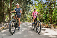 Matt and Maggie Lechowicz ride the Historic Jungle Trail on 4/17/2017.