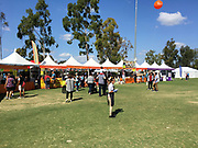 Food Booths At The Annual Irvine Global Village Festival