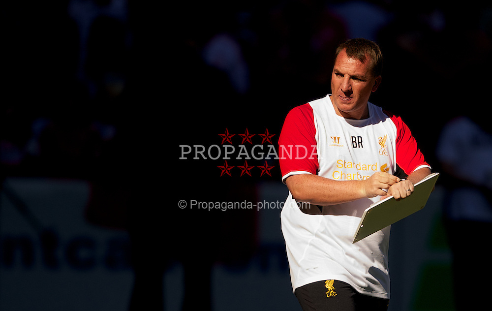 TORONTO, CANADA - Friday, July 20, 2012: Liverpool's manager Brendan Rodgers during a training session ahead of the side's first match of their North American pre-season tour against Toronto FC at the Rogers Centre. (Pic by David Rawcliffe/Propaganda)