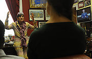 United States Congresswoman Rosa DeLauro, 69, a Democrat representing Connecticut's Third district. She is currently in her eleventh term, having been in Congress for twenty one years...DeLauro in her Congressional office in the Rayburn building meeting a group of visiting students from Yale university. Yale is in her congressional district. She answers their questions at length.