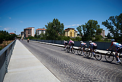 Team Sunweb set the pace at Giro Rosa 2018 - Stage 2, a 120.4 km road race starting and finishing in Ovada, Italy on July 7, 2018. Photo by Sean Robinson/velofocus.com