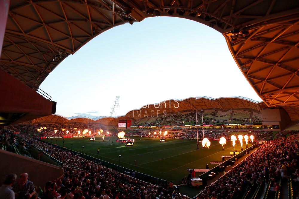 A general view of the Melbourne Rectangular Stadium  during the Rugby League World Cup match between Australia and England at Melbourne Rectangular Stadium, Melbourne, Australia on 27 October 2017. Photo by Mark  Witte.