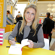 NLD/Amsterdam/20120310 - Feest der Letteren 2012 , Jessica Durlacher signeert boek