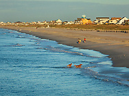 Oceanana Resort Fishing Pier in Atlantic Beach NC in the Fall
