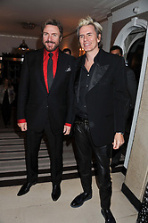 Left to right, SIMON LE BON and JOHN TAYLOR at the Harper's Bazaar Women of the Year Awards 2011 held at Claridge's, Brook Street, London on 7th November 2011.