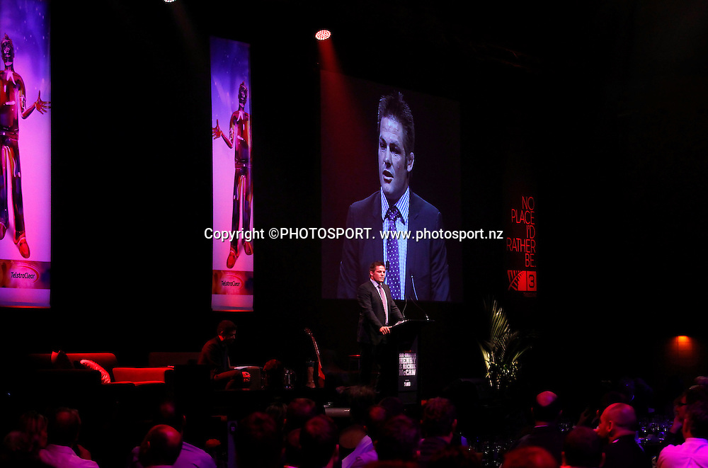 Richie McCaw. A Tribute to Sir Graham Henry and Richie McCaw, Telstra Pacific Events Centre, Manukau, Auckland, Thursday 19 April 2012. Photo: Simon Watts / photosport.co.nz