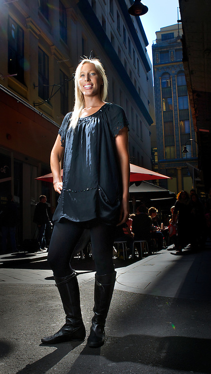 FASHION BRIGHTS. Andrea Hunt. Melburnians are famous for only wearing black. how are they going to take to the latest trend of wearing neon brights?Pic By Craig Sillitoe CSZ/The Sunday Age.2/9/2011 melbourne photographers, commercial photographers, industrial photographers, corporate photographer, architectural photographers, This photograph can be used for non commercial uses with attribution. Credit: Craig Sillitoe Photography / http://www.csillitoe.com<br />