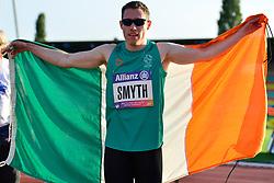 Jason Smyth, IRE celebrating winning the T13, 200m at the Berlin 2018 World Para Athletics European Championships