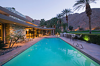 Swimming pool exterior of Palm Springs home