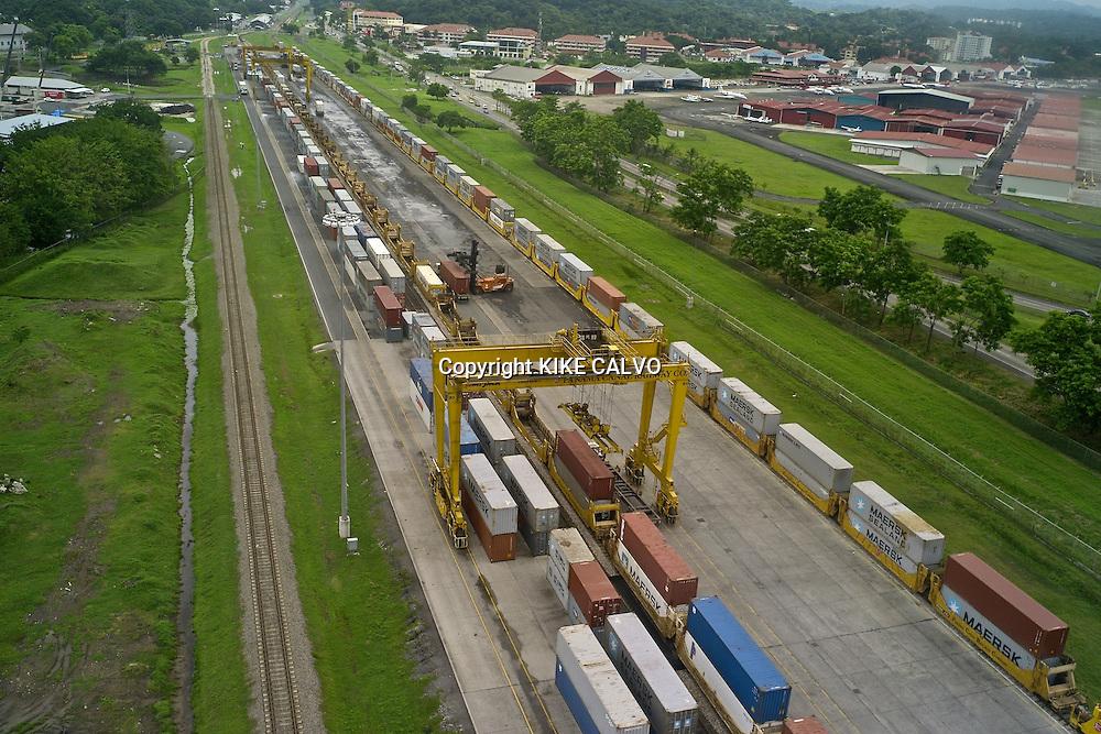 Panama Canal Railroad at Port of Balboa.