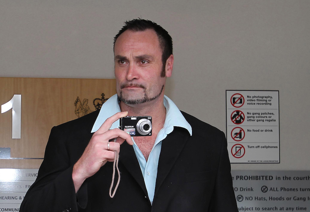 Bouncer Jonathan Dixon, who placed on YouTube security video footage of England Rugby captain Mike Tindall in a bar arrives at court, Queenstown, New Zealand, Monday, September 19, 2011. Credit:SNPA / Simon Runting