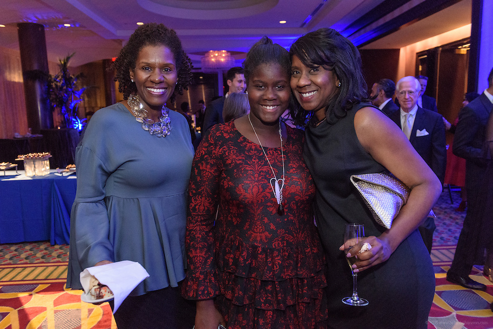 Guests at the Dessert, Coffee and Champagne Mix & Mingle in the ballroom foyer after the fourth annual  Muhammad Ali Humanitarian Awards Saturday, Sept. 17, 2016 at the Marriott Hotel in Louisville, Ky. (Photo by Brian Bohannon for the Muhammad Ali Center)