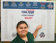 A Piney Point Elementary School student is proud to be one of the 32 finalists in the Houston ISD NCAA Read to the Final Four, November 11, 2015.
