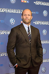 Image ©Licensed to i-Images Picture Agency. 06/08/2014. Cologne, Germany. Jason Statham attends the German premiere of the film 'The Expendables 3' at Residenz Kino. Picture by  Schneider-Press / i-Images<br /> UK & USA ONLY