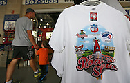 A shirt on sale during the game between the Clinton LumberKings and the Cedar Rapids Kernels at Veterans Memorial Stadium in Cedar Rapids on Monday, September 3, 2012.