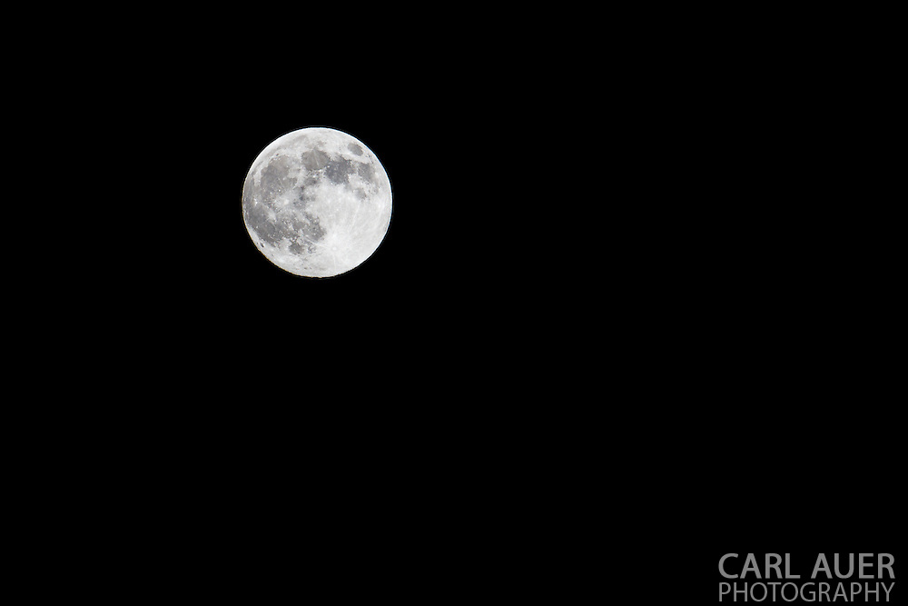 The moon photographed on Saturday, June 22nd at one of the closest orbits to the earth, commonly referred to as a Supermoon.
