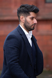 © Licensed to London News Pictures. 10/01/2019. Birmingham, West Midlands UK. ANTONIO BOPARAN , 31, arriving at Birmingham Magistrates court charged with causing death by dangerous driving. He was convicted of dangerous driving following a head-on collision in Sutton Coldfield, which left Cerys Edwards, then 11-months-old, with severe brain damage. She died in October 2015, and a post-mortem examination revealed the death was as a result of injuries suffered in the crash. Photo credit: Dave Warren/LNP