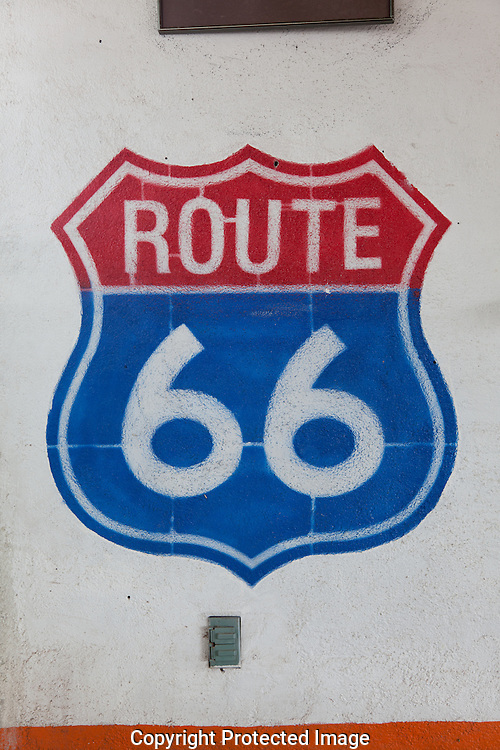 Route 66, shield sign, vintage gas station, Hackberry General Store, Hackberry, Arizona