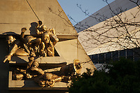 """The Audience"" - A sculpture by Michael Snow adorning the facade on the northwest corner of Rogers Centre, home of the Toronto Blue Jays Major League Baseball franchise."