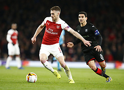 March 14, 2019 - London, England, United Kingdom - Aaron Ramsey of Arsenal.during Europa League Round of 16 2nd Leg  between Arsenal and Rennes at Emirates stadium , London, England on 14 Mar 2019. (Credit Image: © Action Foto Sport/NurPhoto via ZUMA Press)