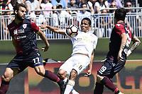 Carlos Bacca-Panagiotis Tachtsidis<br /> Cagliari 28-05-2017, Stadio Stadio Sant'Elia, Football Calcio 2016/2017 Serie A, Cagliari - Milan, Foto Image Sport/Insidefoto