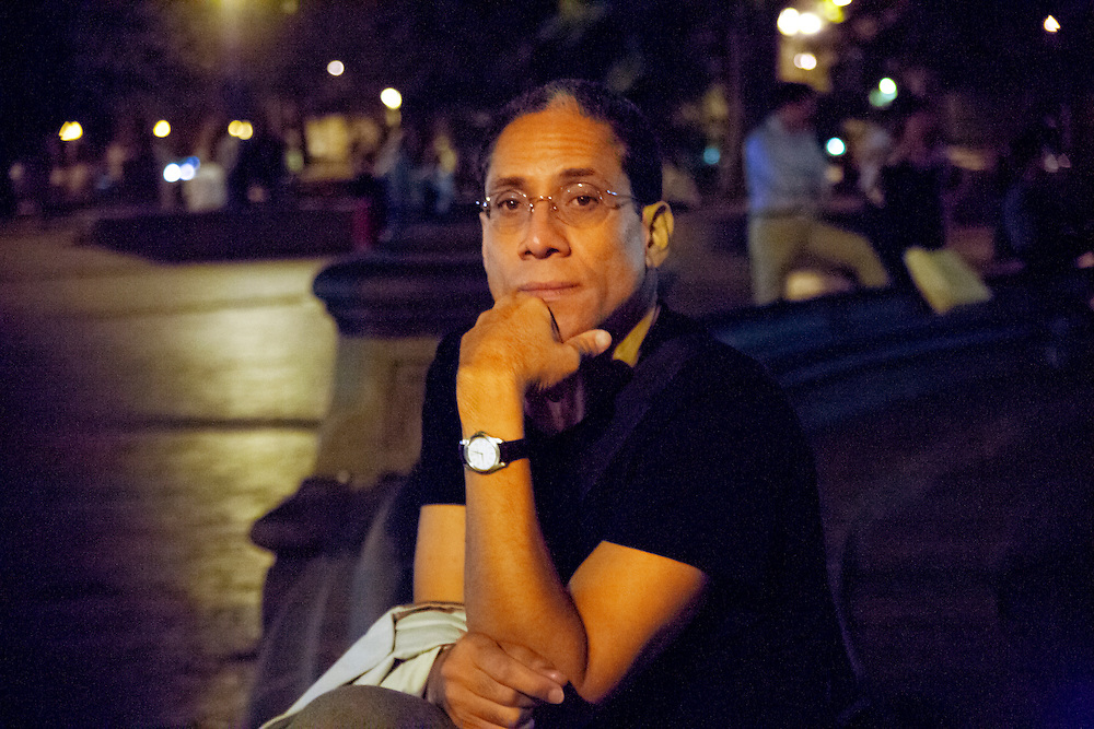 Well know and renowned photojournalist, Joseph Rodriguez, in Washington Square Park. 2007
