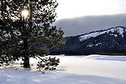USA, Idaho, Valley County, Donnelly, Tamarack Resort, Winter Scene
