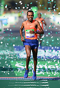 Asefa Mengistu (ETH) places third in 2:07:25 in the 43rd Paris Marathon in IAAF Gold Label road race in Paris, Sunday, April 14, 2019. (Jiro Mochizuki/Image of Sport)