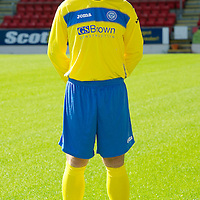 St Johnstone Launch New Strip For Season 2011-12<br /> Frazer Wright wearing the new away strip.<br /> see story by Gordon Bannerman Tel: 07729 865788<br /> Picture by Graeme Hart.<br /> Copyright Perthshire Picture Agency<br /> Tel: 01738 623350  Mobile: 07990 594431