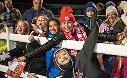 Members of Swiss Valley Rangers at Stoke Gifford Stadium supporting Bristol City Women - Mandatory by-line: Paul Knight/JMP - 02/12/2017 - FOOTBALL - Stoke Gifford Stadium - Bristol, England - Bristol City Women v Brighton and Hove Albion Ladies - Continental Cup Group 2 South