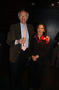 Michael Frayn and Claire Tomalin. Blackbird press night,  Mint Leaf. London. 13 February 2006. ONE TIME USE ONLY - DO NOT ARCHIVE  © Copyright Photograph by Dafydd Jones 66 Stockwell Park Rd. London SW9 0DA Tel 020 7733 0108 www.dafjones.com
