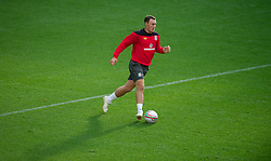 SWANSEA, WALES - Thursday, October 6, 2011: Wales' Darcy Blake during a training session ahead of the UEFA Euro 2012 Qualifying Group G match against Switzerland at the  Liberty Stadium. (Pic by David Rawcliffe/Propaganda)