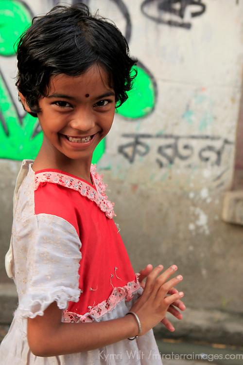 Asia, India, Calcutta. Young girl in Calcutta.