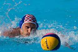 Frano Karac of Croatia during waterpolo Semifinal Round match between National teams of Croatia and Serbia during the 13th FINA World Championships Roma 2009, on July 30, 2009, at the Stadio del Nuoto,  Foro Italico, Rome, Italy. Serbia won 12:11. (Photo by Vid Ponikvar / Sportida)